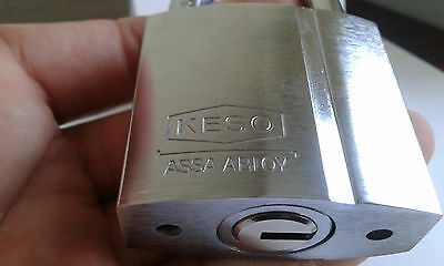 KESO(Assa Abloy) 22.037.High Security Padlock Keying Platform 2000S .With 2 Keys