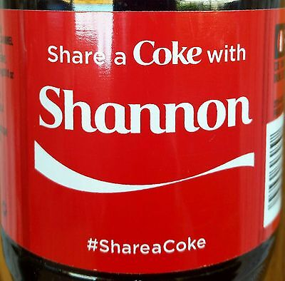 Summer 2015 Share A Coke With Shannon Personalized Coca Cola Collectible Bottle