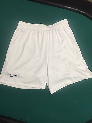 Nike Fit Dry White Soccer Shorts Boys Youth Kids Size Small