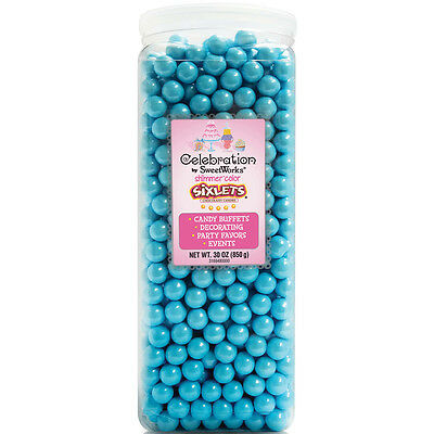 Celebrations By SweetWorks Sixlets(R) 30oz-Shimmer (TM) Powder Blue