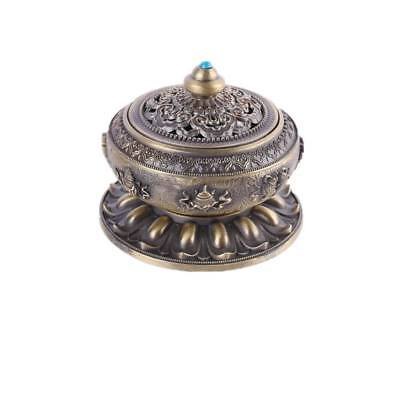 Home Room Chinese Vintage Incense Burner Holder Flower Statue Censer Bronze
