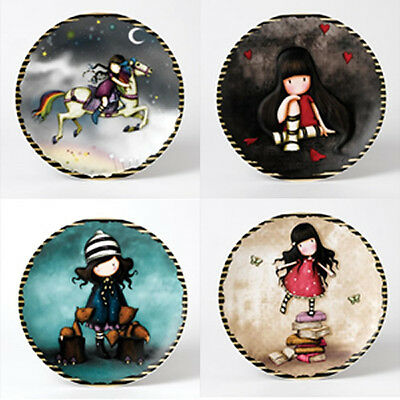 Set Of Four Enesco Gorjuss Wall Plates - Brand New - Boxed - R.r.p £79.80