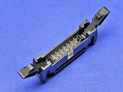 IDC Latch Header PCB CONNECTOR TI16LHS LATCHED HEADER 16 Way STRAIGHT PINS