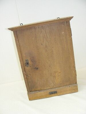 Little old Wall cabinet, Art nouveau with many small Compartments