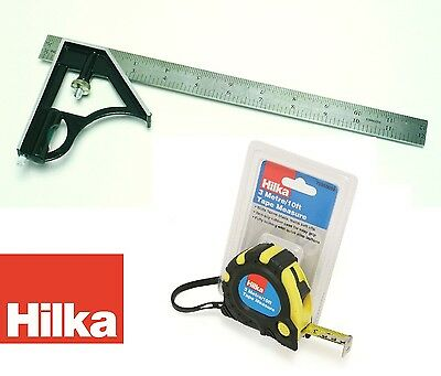 Combination Square 12 inch  300mm  Hilka Pro Craft 76808046 + Tape measure