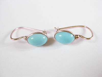 Earrings Gold 585 with turquoise