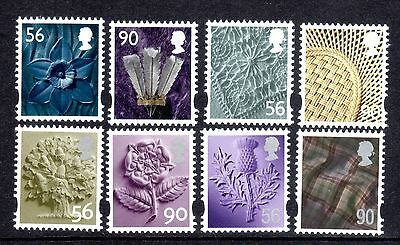 GB Stamps 2009 Regional Definitives Set of 8 - 56p 90p Mint