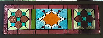 Victorian stained glass window with wonderful use of colors