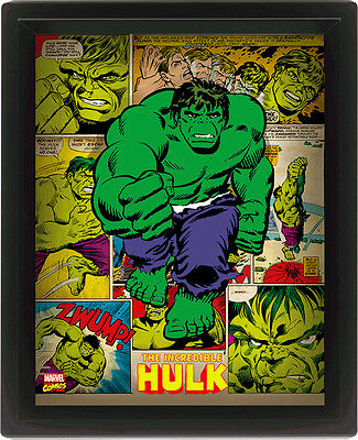 Marvel Classic Incredible Hulk Comic Book 3D Lenticular Picture
