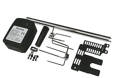 EXTRA QUIET MOTOR BBQ BARBECUE ROTISSERIE SPIT UNIVERSAL KIT 41 inch length