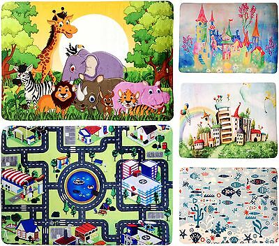 Large Children Kids Playroom Bedroom Fun Floor Mat Rug Jungle Ocean 76x117cm