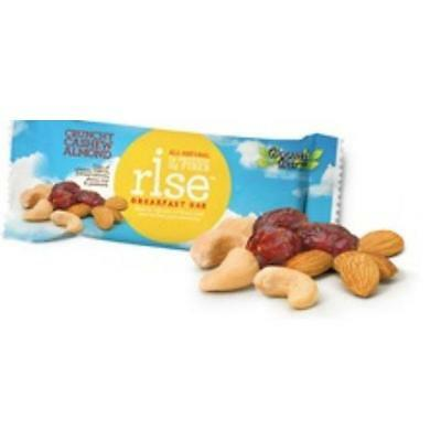 Rise Foods B08060 Rise Foods Crunchy Cashew Almond Breakfast Bar -12x1.4 Oz