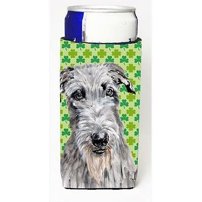 Scottish Deerhound Lucky Shamrock St. Patricks Day Michelob Ultra bottle slee...