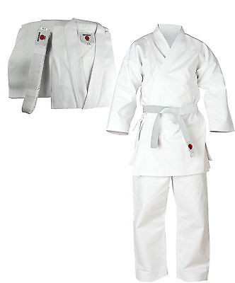 Senshi Japan Cotton Karate Suit Martial Arts Uniform Aikido Student White Gi