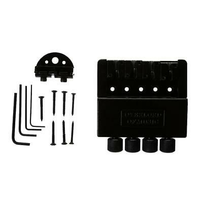 Black 4 String Electric Bass Tailpiece Bridge System for Headless Bass Parts