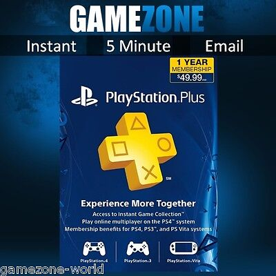 PlayStation Plus PSN 365 Days USA Code - PS US Store 12 Month - SONY PS4 1 Year