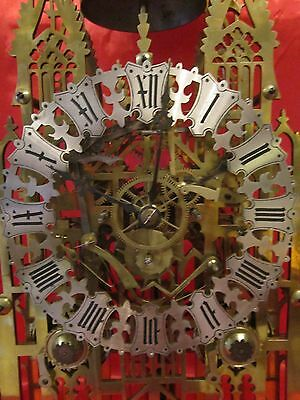 19th century double fusee cathedral skeleton clock