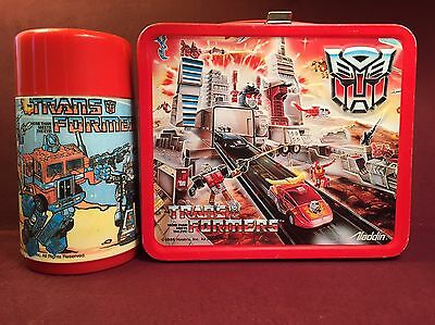 1986 Transformers Lunchbox and Thermos