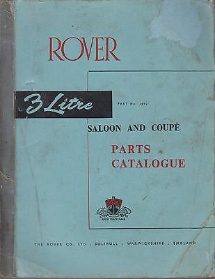 Rover P5 3 Litre Saloon / Coupe Mk1 Mk1A Mk2 Orig. Factory Spare Parts Catalogue