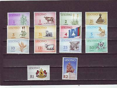 a119 - LESOTHO - SG191-202 & 401 MNH 1971 DEFINITIVES 1/2c - 2r
