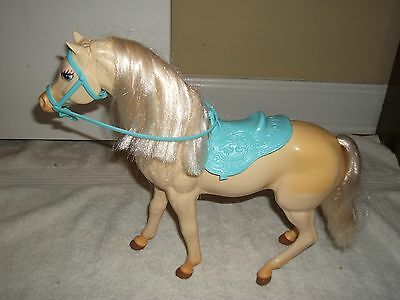"""Horse Action Toy, 10"""" Tall Rigid Plastic + Blue Tack + 2 Grooming Combs"""