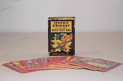 Jiminy Cricket Safety First Playing Cards in Original Box