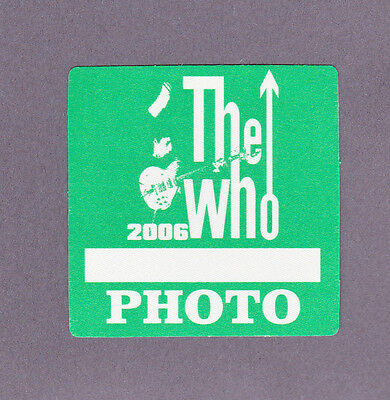 The Who 2006 Pete Townsend Unused Backstage Pass Otto