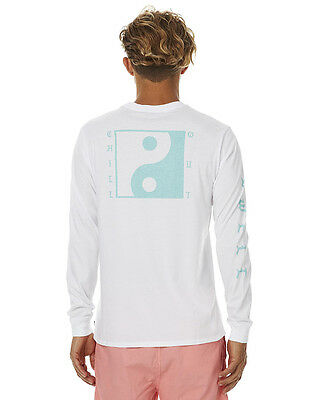New Swell Men's Chillout Ls Mens Tee Mens T-Shirts T-Shirt Tops White