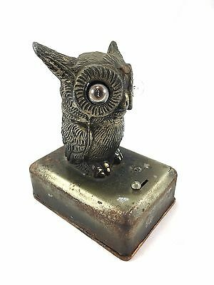 Antique owl light and pocket watch stand