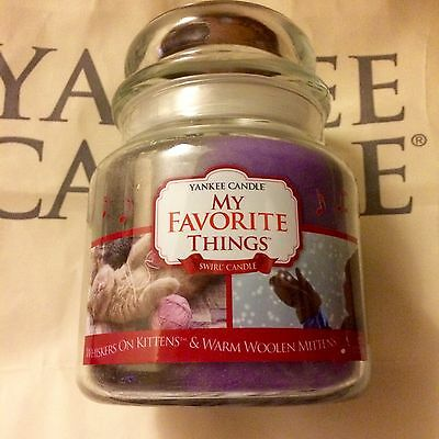 Yankee Candle My Favorite Things Swirl Whiskers On Kittens + Warm Woolen Mittens