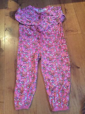 H&M Pink Cotton Onesie 6-8 Woodland Toadstool Bunny Fairy Squirrel