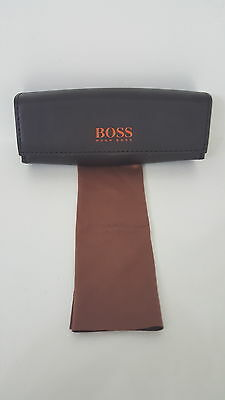 Hugo Boss Glasses / Spectacles Case Boss Orange With Cleaning Cloth New