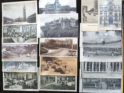 VINTAGE POSTCARDS FROM ABOUT1915 to 1920s- LOT of 35 EUROPEAN TRAVEL LANDMARKS