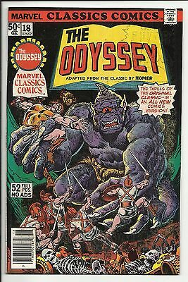 Marvel Classics Comics #18 The Odyssey by Homer - VG/FN 5.0
