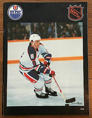 NHL Program HARTFORD WHALERS vs EDMONTON OILERS - Dec 9, 1979 - HOWE vs GRETZKY