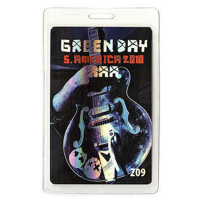 Green Day ALL ACCESS 2010 Laminated Backstage Pass