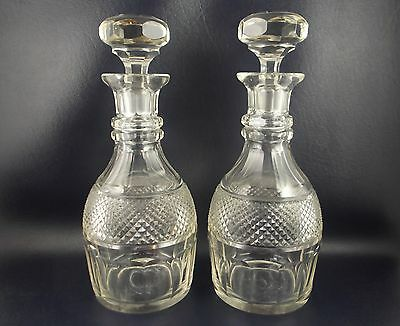 Beautiful Matching Pair of Antique Quality Crystal Decanters Baccarat St.Louis