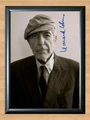 Leonard Cohen Signed Autographed A4 Print Photo Poster Memorabilia Songs Room 1