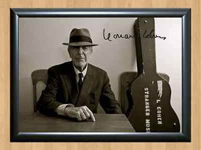 Leonard Cohen Signed Autographed A4 Print Photo Poster Memorabilia Songs Room 2