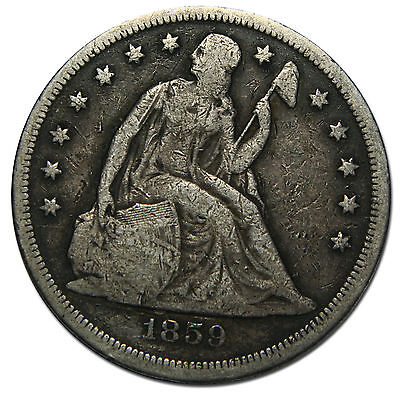 1859O Seated Liberty Silver Dollar $1 Coin Lot# MZ 3320