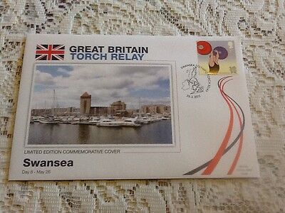 L@@k 2012 London Olympics - Great Britain Torch Relay Fdc - Day 8 Swansea L@@k