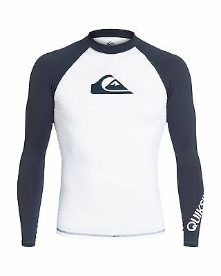 NEW QUIKSILVER™  Mens All Time Long Sleeve RashVest Rashie Rashvests