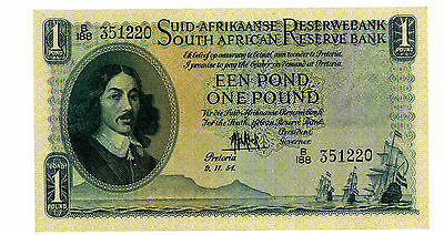 South Africa … P-93e … 1 Pound … 9-11-1954 … *XF+*