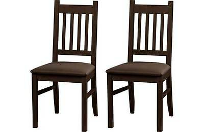 Pair walnut dining chairs new pair of kitchen chairs new walnut finish chairs