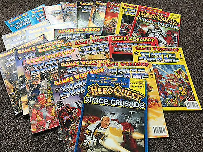 Games Workshop White Dwarf Mullti Listing issues 123 to 143