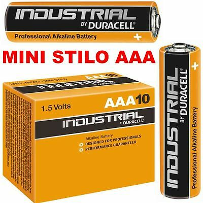 Batterie Pile Alcaline Duracell Industrial Ex Procell Mini Stilo Aaa Lr03 1,5V