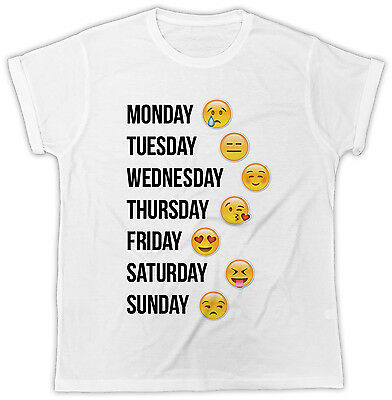 Weekly Emojis Days Of The Week Emojis Ideal Gift Short Sleeve Cool Funny T Shirt