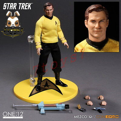 Mezco Toyz 1/12 Star Trek Captain Kirk_ Box Set _James USS Enterprise Now ZZ102A