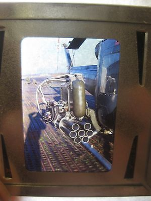 8- 1969 glass Slides- Army Military Helicopter Gunship - Launchers-cockpit view