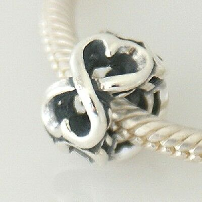 INFINITY HEARTS Interlaced Thorny- Solid 925 sterling silver European charm bead